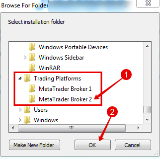 Install MT4 Choosing Pprogramm Folder for Second Broker