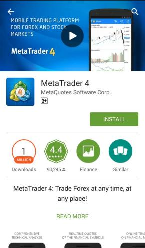 mt4 for android new account