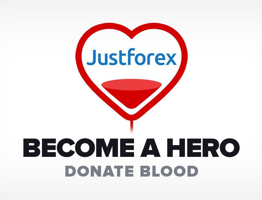 justforex organized blood donation