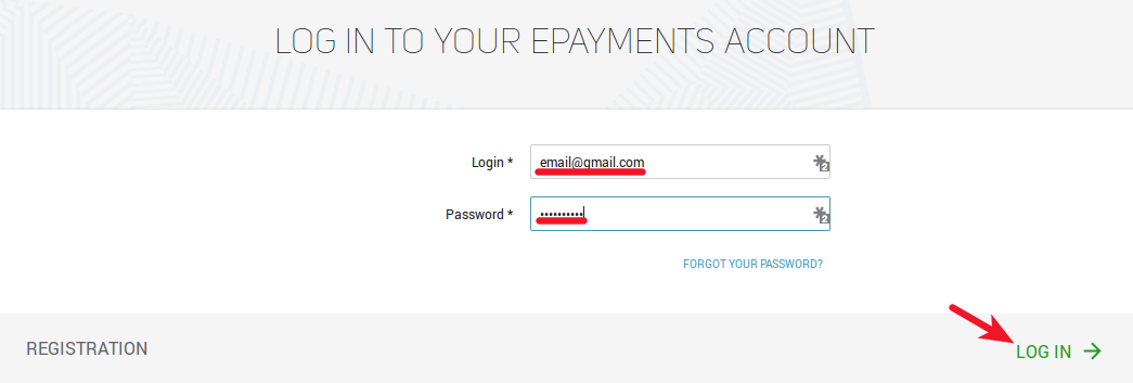 ePayments Backoffice Login