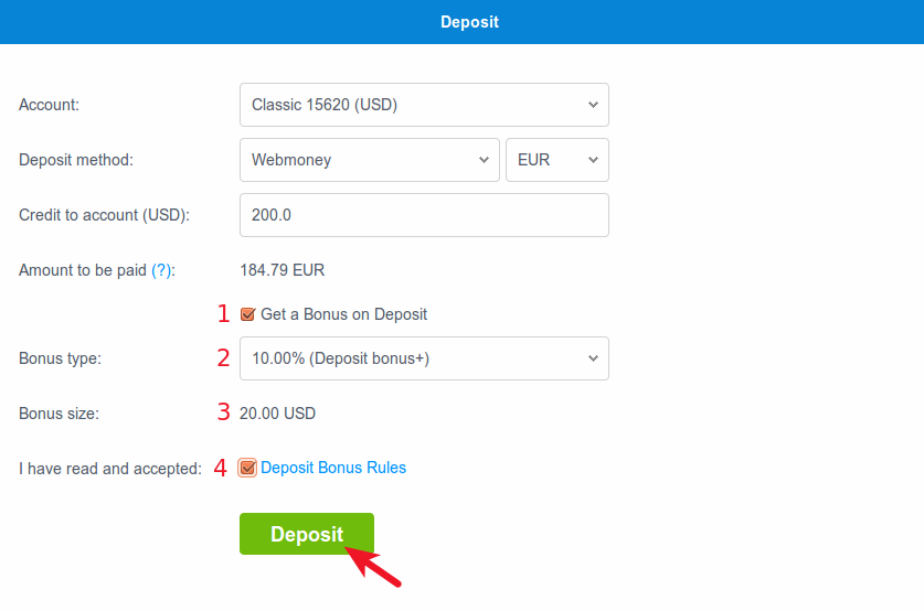 webmoney deposit button
