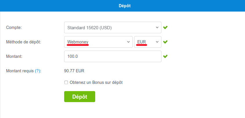 webmoney deposit method
