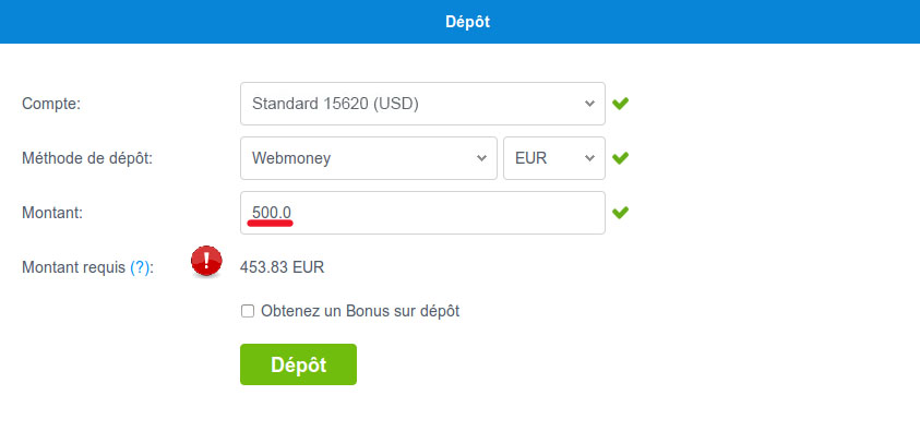 webmoney credit to account