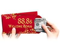 88,8$ Welcome Bonus